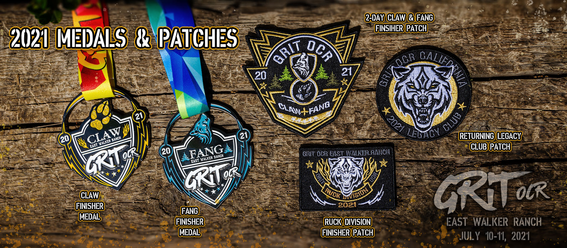 2021 Grit OCR Medals & Patches